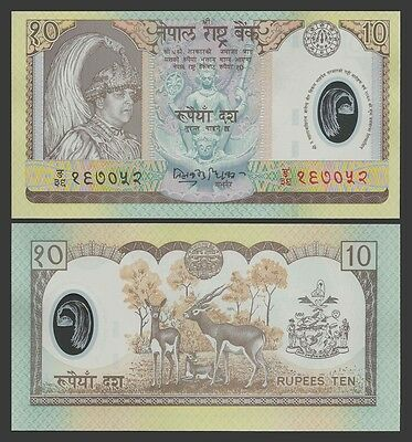 Nepal 10 RUPEES Sign 15 ND 2002 P 45 UNC OFFER !