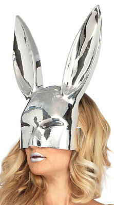 One Size Fits Most Womens Chrome Bunny Mask