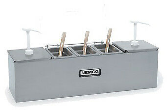 """Nemco 88100-CB-2 Roll-A-Grill Condiment Station, 25.75""""W x 8""""D, (2) 3 qt. stainl"""