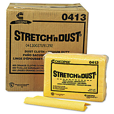 CHI0413 Stretch 'n Dust Cloths, 12 3/5 x 17, Yellow