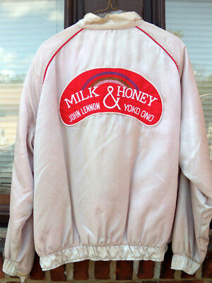 JOHN LENNON Milk & Honey YOKO ONO ViNTaGe 1984 PRoMo RoaDie BomBer JACKET L/XL