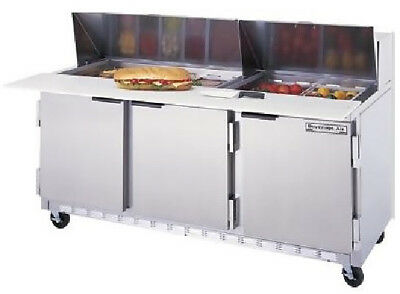 Beverage-Air Dual Sided Prep Tables 72 Spe72-30M-Ds