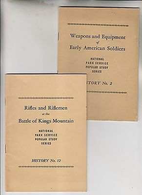 9 Vintage Small Booklets/brochures Regarding Guns