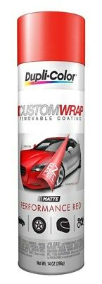 New Race Sport RSSCW-PRM Performance Matte Red Custom Rubberized Coating