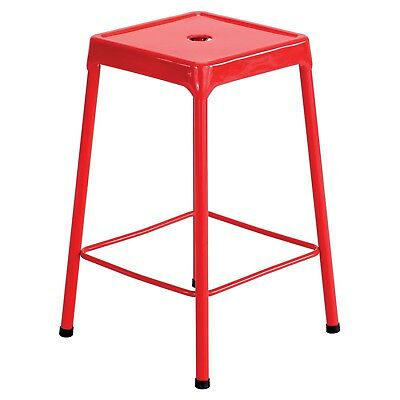 Safco Counter-Height Steel Stool , Red