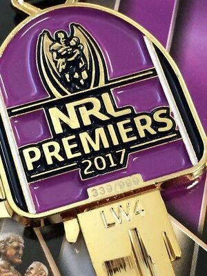 Melbourne Storm 2017 Premiership LIMITED EDITION House Key Blank-IN STOCK NOW!