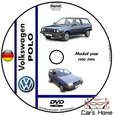MANUALE OFFICINA VOLKSWAGEN POLO my 90 - 94 WORKSHOP MANUAL DVD