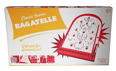 Tobar Bagatelle Game Board 34cm Classic Toy Traditional Retro Pinball Red Age 8+