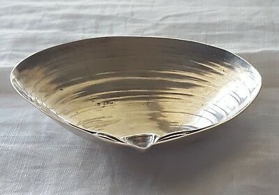 Wallace Sterling Silver Clam Shell Dish Tray  3.5x 2.5 inch 28 Grams  No. 4020