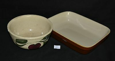 ThriftCHI ~ Vintage Hand Painted Mixing Bowl & Rectangle Baking Dish