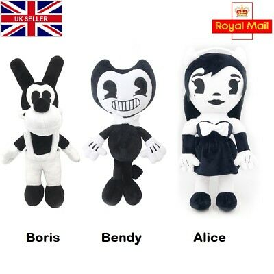 "Bendy And Boris the ink machine Plush Doll Figure KIDS Toys 13"" UK SELLER C063"