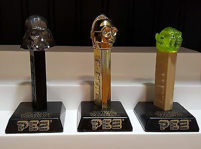 2003 Star Wars Limited Edition Pez Dispensers (Set of 3) HTF