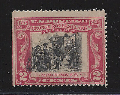 United States 651 Mnh George Rogers Clark *2.5 Mm Vignette Shift* See Scan