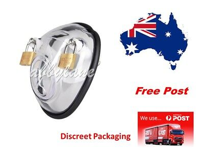 GENUINE ExoBelt V1 Male Chastity Device ..Clear  Free Post... Aussie Stock