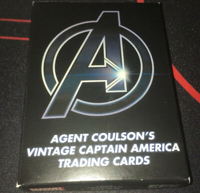Agent Coulson's Vintage Captain America Trading Card Regular & Blood Stained set
