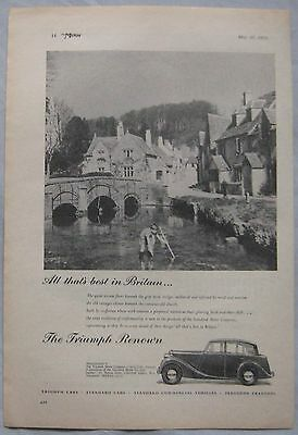 1950 Triumph Renown Original advert No.3