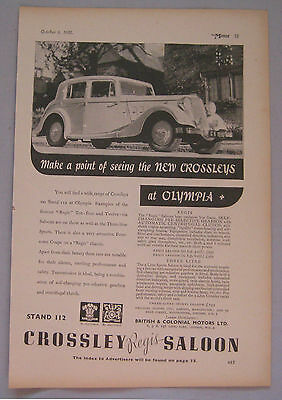 1935 Crossley Original advert