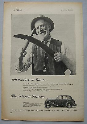 1950 Triumph Renown Original advert No.2