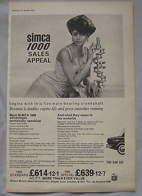 1963 Simca 1000 Original advert