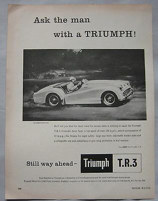 1958 Triumph TR3 Original advert No.3