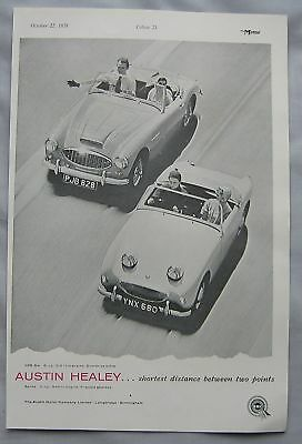1958 Austin Healaey 100-Six & Sprite Original advert No.1