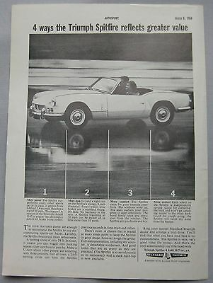 1964 Triumph Spitfire Original advert No.1