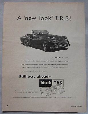 1958 Triumph TR3 Original advert No.2