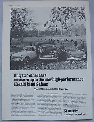 1968 Triumph Herald 13/60 Original advert No.2