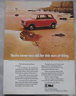 1973 Mini Original advert No.1