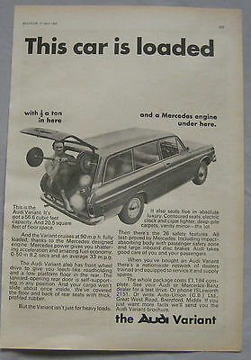 1967 Audi Variant Original advert