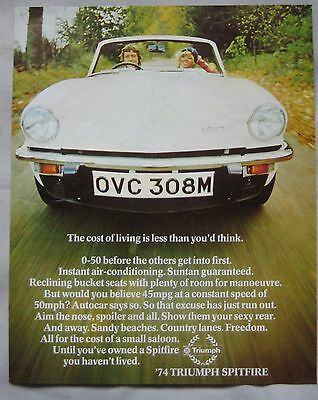 1974 Triumph Spitfire Original advert No.1