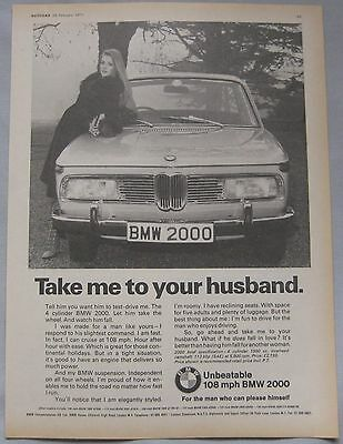 1971 BMW 2000 Original advert