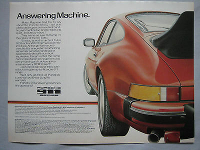 1980 Porsche 911 Original advert