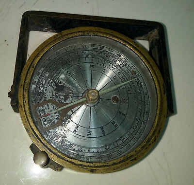 Rare Vintage Brass Compass Of Todar