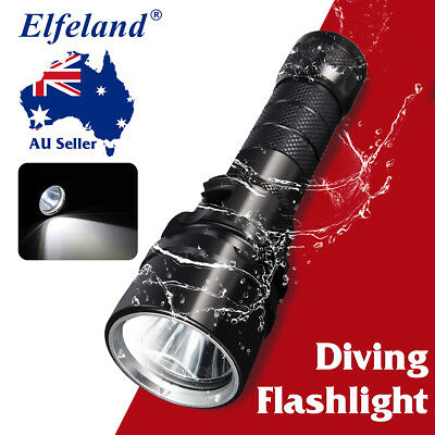 HOT Elfeland 85000LM T6 + COB LED Flashlight Zoomable 18650 Charger Torch  Light
