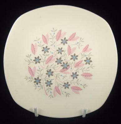Midwinter Pink Leaves/Blue Flowers Modern Fashion Shape Side Plate (2 Available)