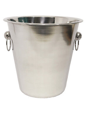 4 Litre Stainless Steel Ice Bucket Tub Wine Beer Champagne Bottle Cooler Chilled