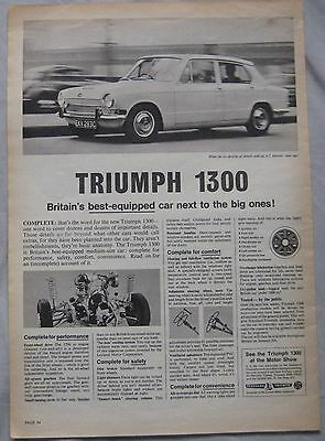 Triumph 1300 Original advert No.1