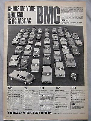 BMC range Original advert No.1