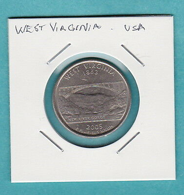 "USA COMMEMORATIVE COIN - STATE QUARTERS - ""West Virginia"" USA"