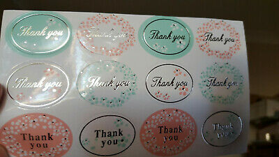Stickers - Thank You with Gold Embellishment - Set of 24