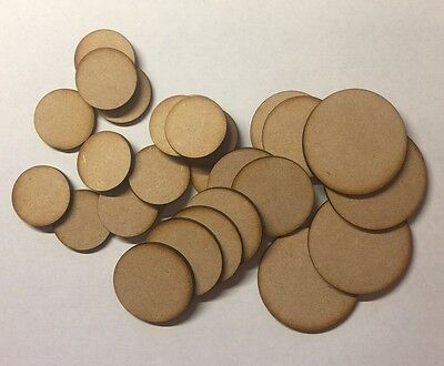 wooden Round Circle Bases 3 Mm thick Laser Cut Mdf 30Mm (3cm) Wargames bolt acti