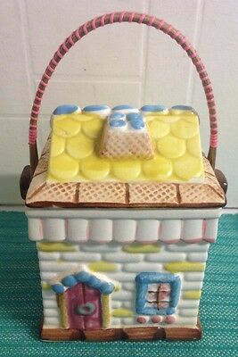 Foreign Pottery Biscuit / Tea Caddy House Design