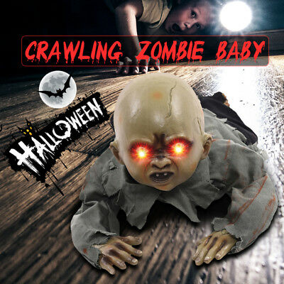 Halloween Crawling Baby Zombie Prop Animated Horror Haunted House Party Decor