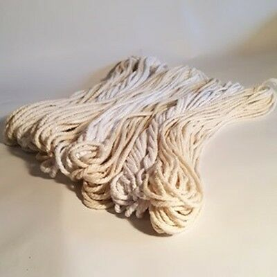 Macrame Cotton Rope,Thick Strong Recycled Cotton Piping Cord, 3mm-6mm,100g hanks