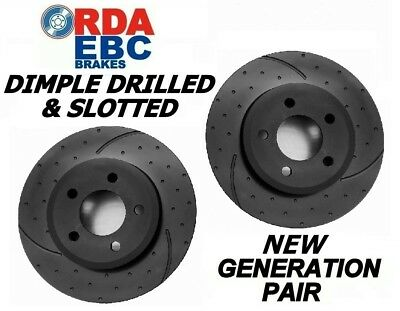DRILLED & SLOTTED Holden WB Utility Panel Van UTE REAR Disc brake Rotors RDA18D