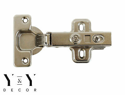 Lot of 50 Pcs Cabinet Door Hardware Hinge Euro 110 Full Overlay Clip On Hinges