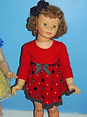 Too Cute Lady Bug Dress Panty & Hair Bow For Patti Play Pal Similar Doll