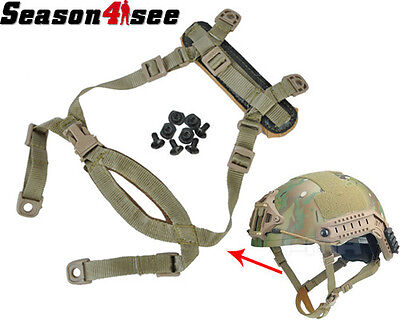 FMA Outdoor Tactical Suspension System H-Nape Chin Strap for MICH Helmet Tan