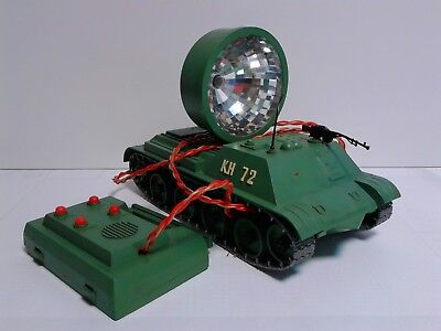 USSR CCCP Vintage Tracked Self-propelled anti-aircraft search light battery